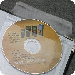 CD-pockets suitable for one mini-CD, 91 x 91 mm, inserted flap, self-adhesive, transparent